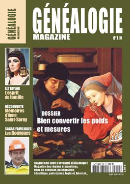 Sommaire Généalogie Magazine N°310