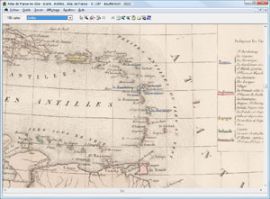 Le logiciel Atlas de France du 19e siècle