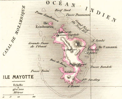 Carte de l'Ile de Mayotte