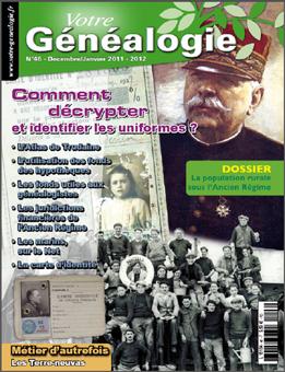 Sommaire Votre genealogie N°46