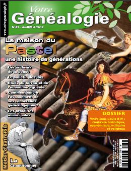 Sommaire Votre genealogie N°48