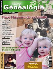 Sommaire Votre genealogie N°54
