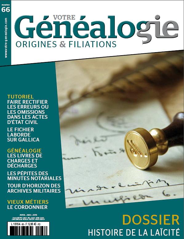 Sommaire Votre genealogie N°64