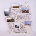 Cadre multi-vues en bois - 6 photos