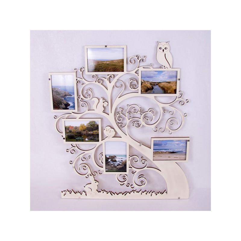 cadre arbre g n alogique en bois 6 photos cdip. Black Bedroom Furniture Sets. Home Design Ideas