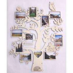 Cadre multi-vues en bois - 11 photos