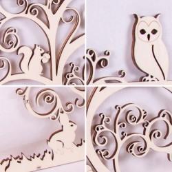 Détail de la découpe du bois - Cadre multi-vues en bois - 11 photos