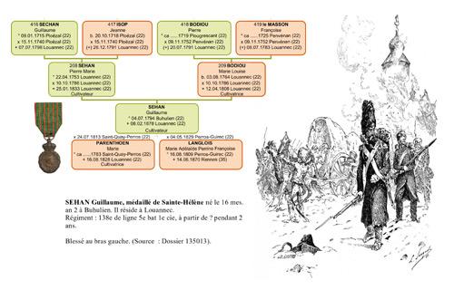 Arbre généalogique guerre Napoléon