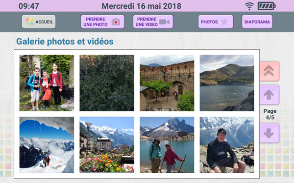 Visualisation des photos