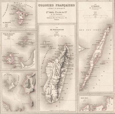 Carte des colonies françaises